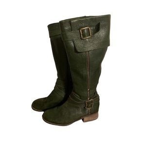 Fabianelli Green Leather Boots - Women's Size 37